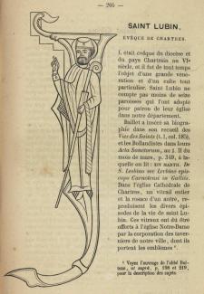 Saint Lubin, évêque de Chartres.