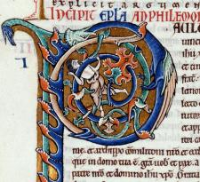 Initiale P Bible saint Bernard